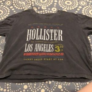 Cropped Hollister shirt.